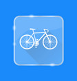 flat style bicycle silhouette icon vector image