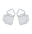 Foamy beer mugs linear icon vector image vector image