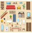 Furniture set for rooms of house vector image