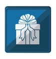 gift box with ribbon isolated icon design vector image vector image