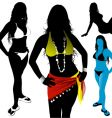 girls in bikinis vector image vector image