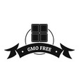 gmo free food logo simple black style vector image vector image