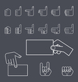 Hand gesture icon set vector image vector image
