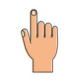 hand with index finger up icon image vector image vector image