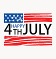 happy 4th july inscription written on american vector image