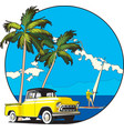 Hawaiian vignette vector image vector image