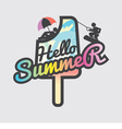 Hello Summer Popsicle vector image