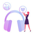 hse concept woman holding heart icon in hands vector image