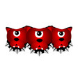 isolated cerberus fantasy creature vector image