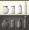 jar or glass bottles for spice or seasoning vector image