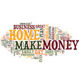 learn how to make money from home today text vector image vector image