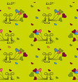 little bunny and balloons seamless patterns vector image vector image