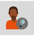 man african look search icon design graphic vector image vector image