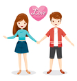 Man And Woman Clasping Hands vector image vector image