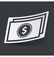 Monochrome dollar bill sticker vector image vector image
