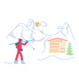 mountain ski resort concept vector image vector image