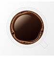 Outline Coffee Cup with Crema Bubbles vector image vector image