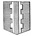 pale walled is a term sometimes used in heraldry vector image vector image