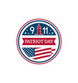 patriot day badge 11th september remembrance day vector image