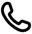 Phone Receiver Stroke Icon vector image