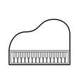 piano music instrument classic cartoon vector image vector image