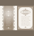 premium invitation or wedding card vector image