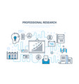 professional research business planning strategy vector image vector image