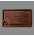 Realistic wooden cutting board vector image vector image