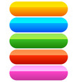 rounded button banner backgrounds in 5 colors vector image