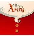 Santas beard and typography greetings vector image vector image