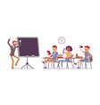 school bad behaviour vector image vector image