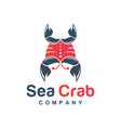 sea crab logo design vector image vector image
