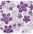 Seamless floral white pattern vector image vector image