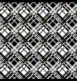 seamless tartan plaid pattern in black white vector image