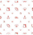service icons pattern seamless white background vector image vector image