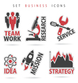 Set Business Icons vector image vector image
