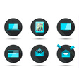 Set of stylish icons vector image vector image