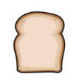 sliced white bread design icon vector image