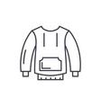 sportswear line icon concept sportswear vector image
