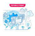 startup flat line concept innovation business vector image vector image