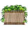 tropical timber frame vector image vector image