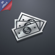 Us dollar icon symbol 3D style Trendy modern vector image vector image