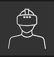 virtual reality player chalk icon vector image vector image