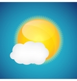 Weather Icons with Sun and Cloud vector image vector image