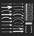 white marker pen written arrows and lines vector image