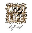 wild life typography t-shirt design vector image vector image