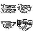vintage hunting club emblems vector image