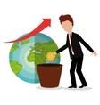 profitable growth design vector image