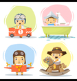 Little boy in cute costumes vector image