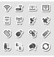 Wireless Devices Icons Set as Labes vector image